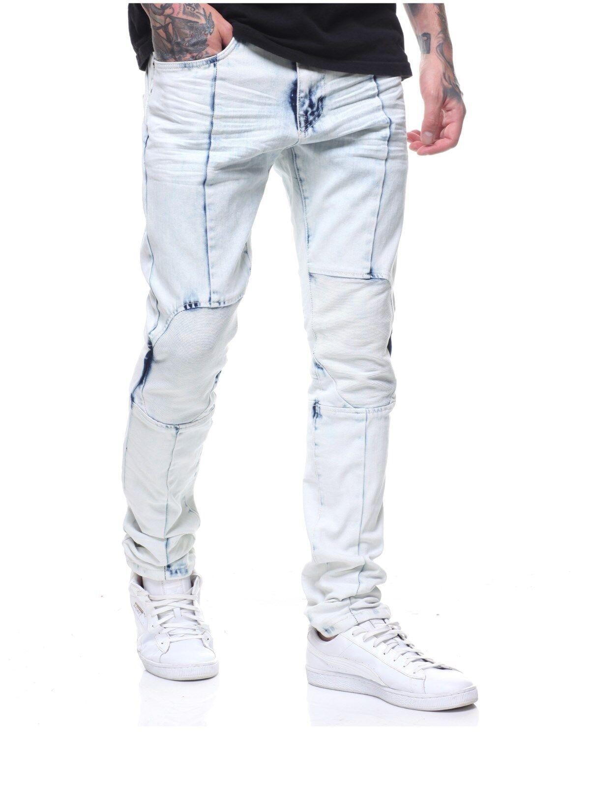 Smoke Rise Herren Flex 4 Bleach Wash Enge Passform Stretch Denim Jeans Eisblau  | Queensland  | Züchtungen Eingeführt Werden Eine Nach Der Anderen  | eine große Vielfalt