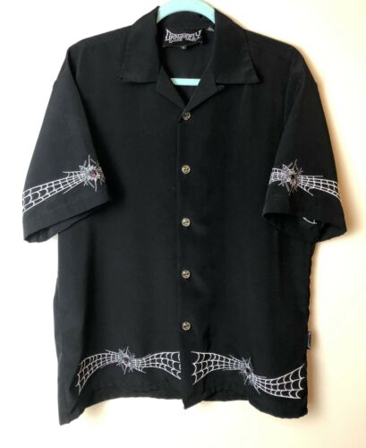 Dragonfly Clothing Company Spider Web Black Button