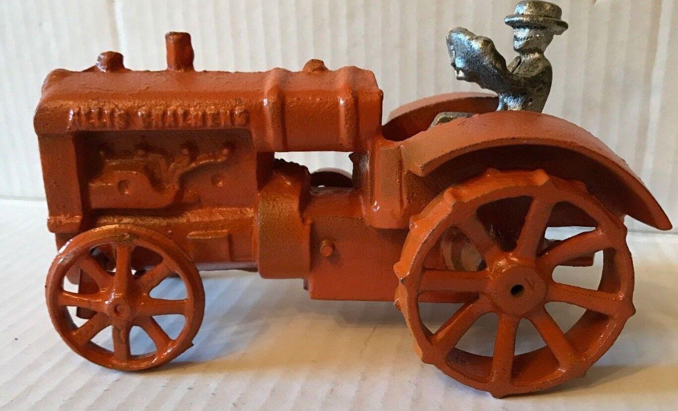 Rare Vintage 1940's Allis Chalmers Cast Iron Tractor & Driver