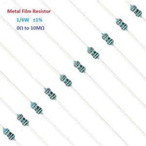 100pcs-Metal-FILM-Widerstaende-1-6w-Tol-1-Full-Wertebereich-0-bis-10m