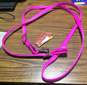 New Pink Nylon Roping Rein Western Reins Gaming Contest Showman Horse Tack