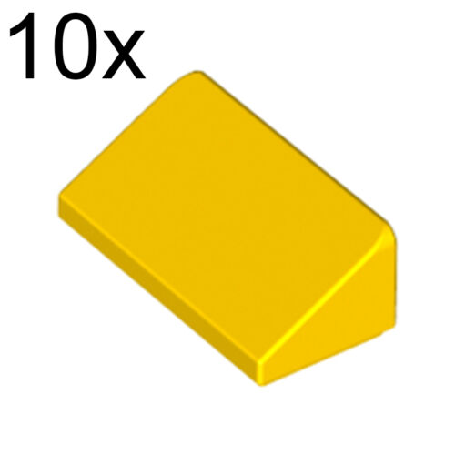 LEGO 10x Yellow Slope 30 1 x 2 x 2//3 4550348 85984