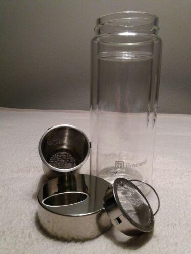 Bredemeijer -doppelwandiges Thermoglas- Teeglas -groß -mit Deckel -mit Sieb