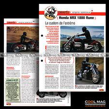 #jbt28.006 ★ HONDA NRX 1800 RUNE Modèle 2006 ★ Fiche Moto Motorcycle Card