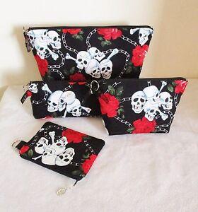 Skulls-amp-Roses-Pouches-Toiletries-Bag-Makeup-Bag-Pencil-Case-Coin-Purse
