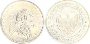 3 Reichsmark Vogelweide 1930F Haarlinien Almost Uncirculated From Polished Plate