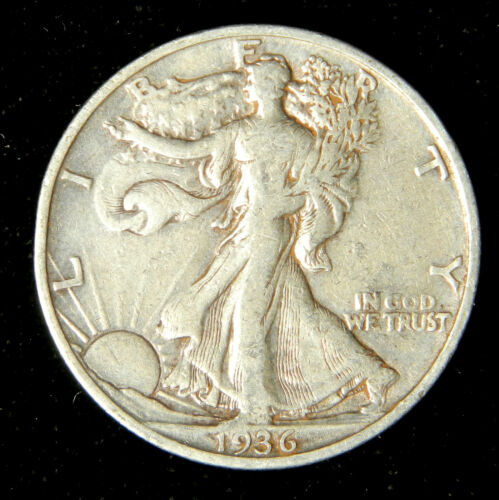 1936-S Walking Liberty Half Dollar 90/% Silver US Coin Very Fine or Better
