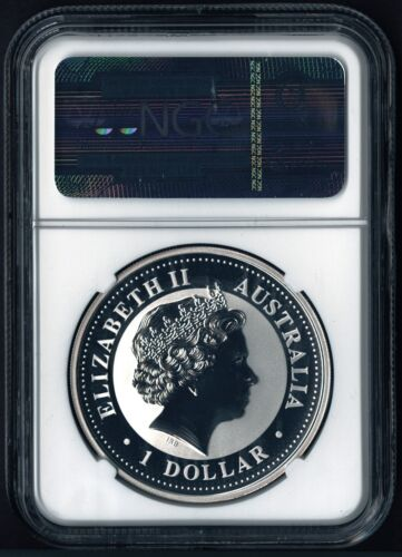 2006 P Australia Pure Silver Lunar Year Dog Colorized NGC MS 70 1 oz Coin MS70