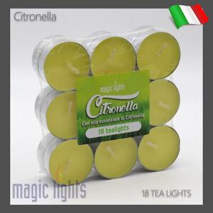 18-CANDELE-TEA-LIGHTS-ALLA-CITRONELLA-TEALIGHT-MAGIC-LIGHTS-LUMINI-CITRONELLA