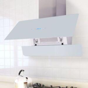 Cappa aspirante schermo Touch Control luce LED cucina 900 mm bianca ...