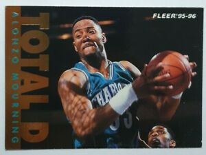 Carte collection basket Fleer TOTAL D Alonzo Mourning 95 96 NBA #201 Hornets