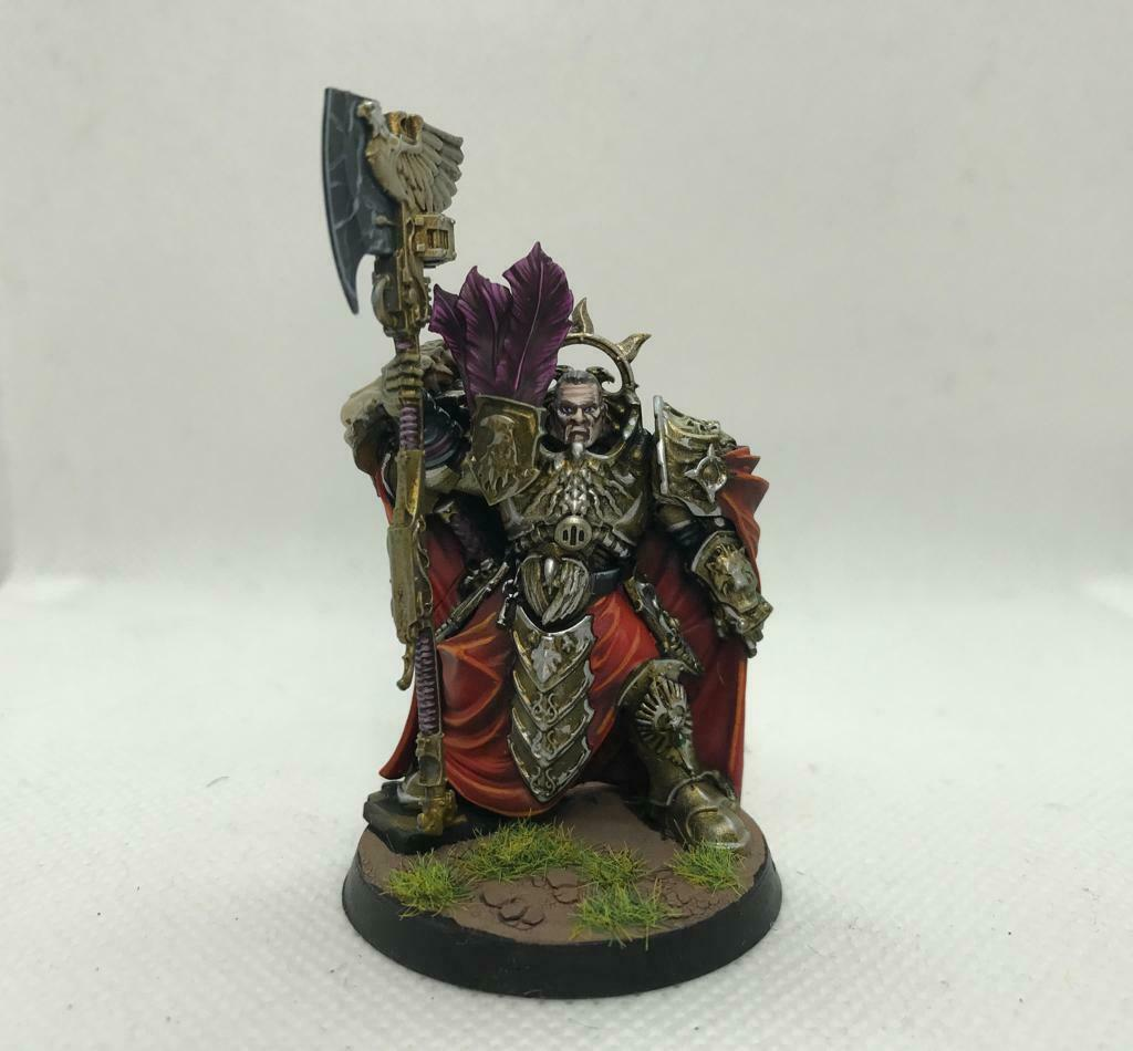 Warhammer 40k Adeptus Custodes Trajann Valoris (Pro-Painted)