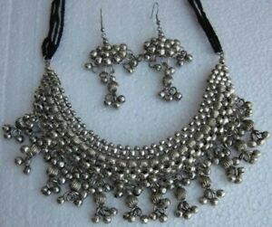 Metal-Beaded-Jewelry-Necklace-Choker-Boho-Tribal-Vintage-Gypsy-Hippie-new