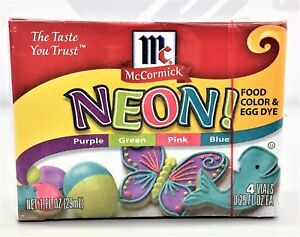 McCormick Neon Assorted Food Color & Egg Dye 4 pack | eBay