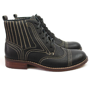 Aldo Shoes UK Store New Men's Brown Ferro Aldo High Top Boots Cap / Wing Tip Toe Leather Lace up N