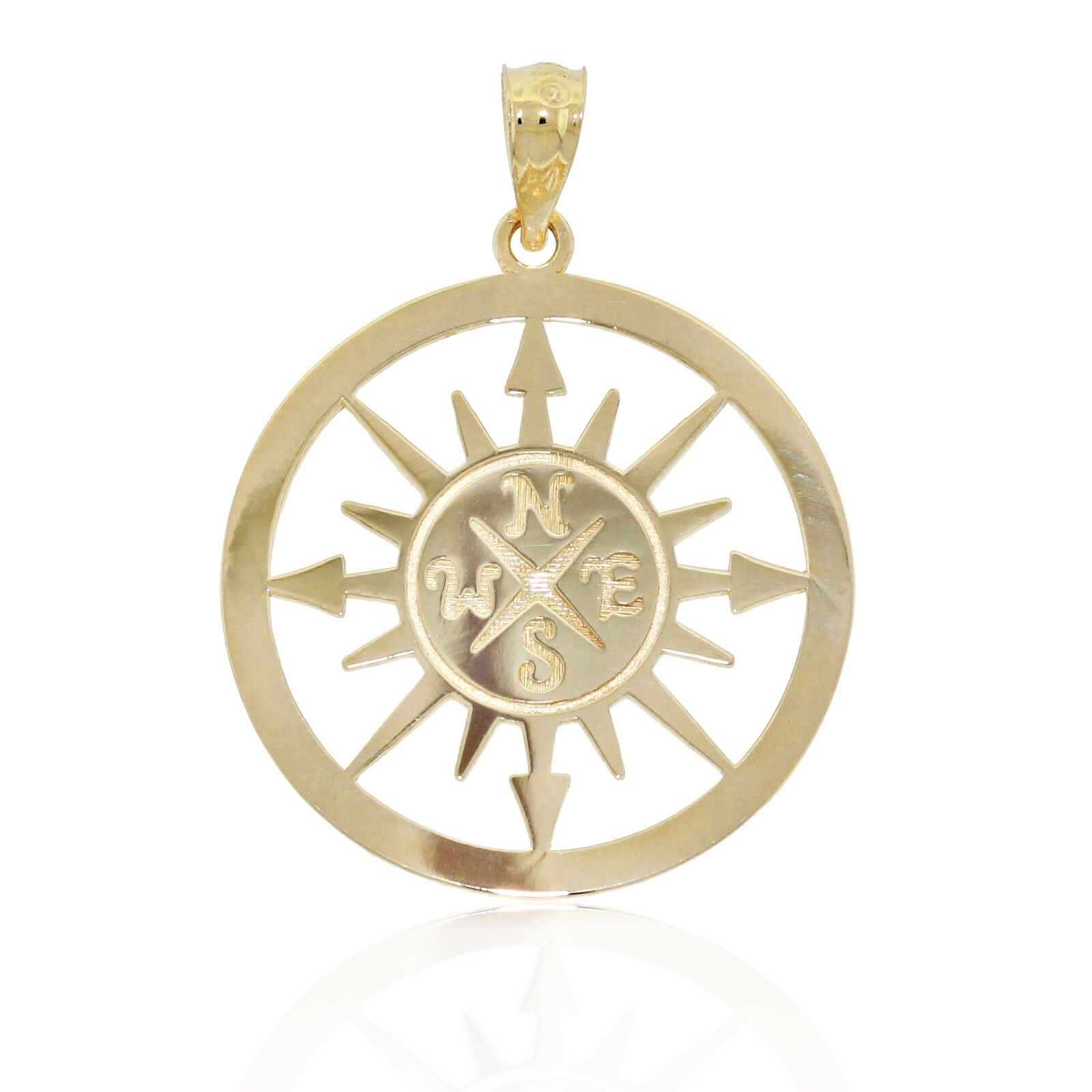 gold Compass Charm with Saying, 14k Solid gold,  I Would Be Lost Without You