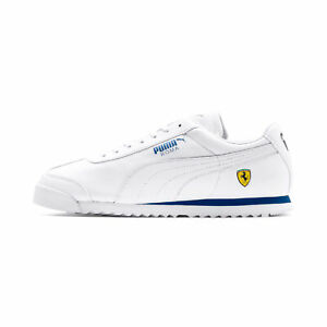 Puma Men's Scuderia Ferrari Roma White/Galaxy Blue Sneakers 30608311 NEW!