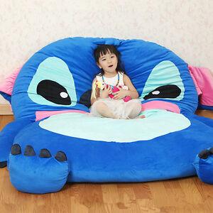 filled lilo stitch carpet tatami mattress single bed sofa large bean bag gift ebay. Black Bedroom Furniture Sets. Home Design Ideas