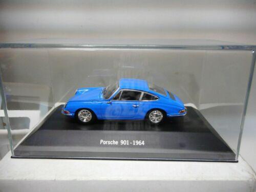 PORSCHE 901 911 BLUE 1964 PORSCHE COLLECTION NOREV ATLAS IXO 1:43