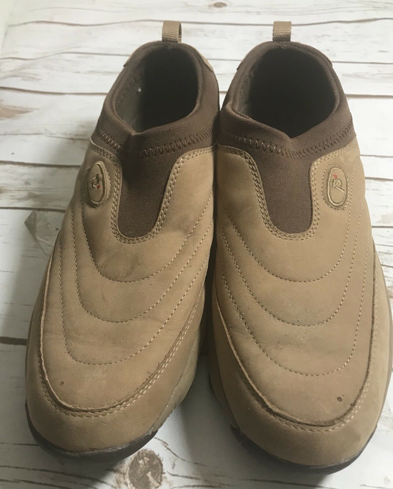 Propet W3841 Women's Tan Brown Slip On Walking shoes Size 11