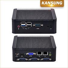 Industrial Fanless Barebone Mini PC 2 Lan 4 COM 4 USB HD VGA Intel J1900 CPU