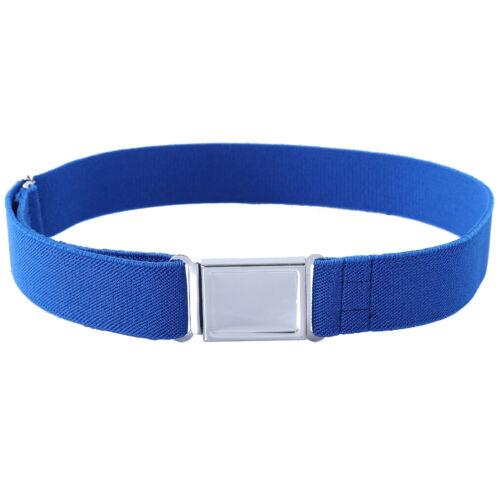 Baby Boy Kids Magnetic Buckle Belt Adjustable Elastic Canvas Children/'s Belts