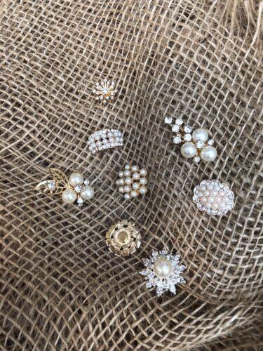 Metal Estrás Adornos Hágalo usted mismo Flatback Packs $2 Post perlas Diamante