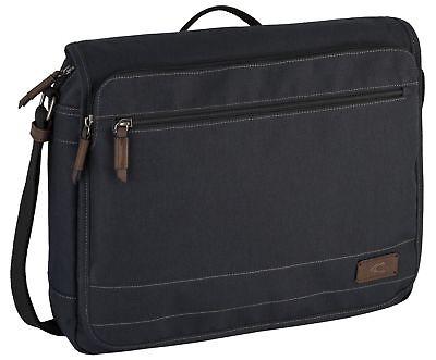 Pratico Camel Active Java Messenger Bag Borsa A Black Nero-mostra Il Titolo Originale In Corto Rifornimento