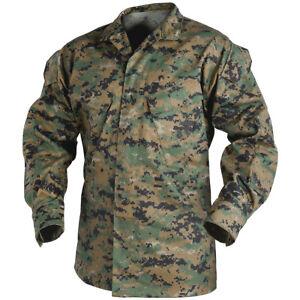 Details about Helikon US Tactical USMC Mens Combat Shirt Military Jacket Digital  Woodland Camo 25a0d3b3198