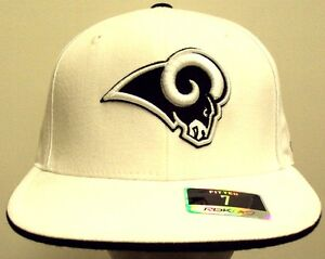 f5783d524 Details about NWT CLASSIC REEBOK FITTED ST LOUIS RAMS NFL FOOTBALL TEAM  BLACK WHITE CAP HAT