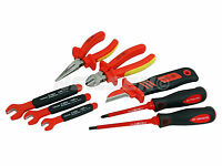 8 Pc Vde Insulated Screwdrivers Spanners Pliers Cutter Cable Knife Tool Set 3947