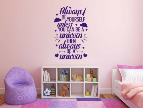 """vinyl transfer quote Fantasy /""""Always Be Yourself.../"""" wall art sticker"""