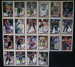 1991-92-Topps-Edmonton-Oilers-Team-Set-of-22-Hockey-Cards