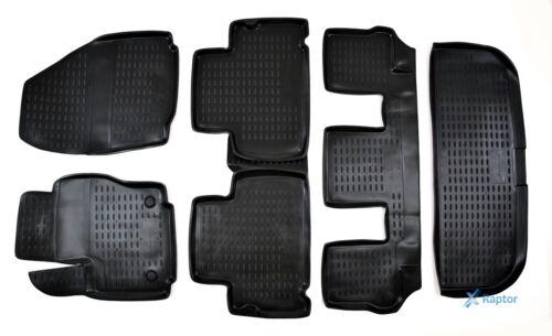 Kofferraumwanne für Ford Galaxy ab 2006 Exklusiv 3D TPE 5-tlg SET Gummimatten