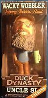 Duck Dynasty Uncle Si Wacky Wobbler Talking Bobble-head Doll Mint Funko