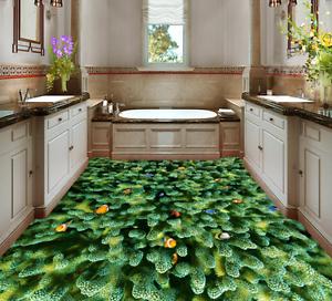 3D Green Coral Fish 532 Floor WallPaper Murals Wall Print Decal AJ WALLPAPER CA