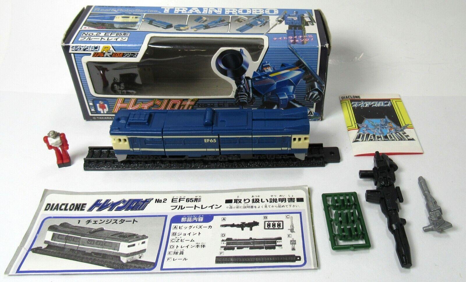 Vintage Takara Diaclone Train Robo Getsuei No.2 EF65 1980 Trainrobo With Box