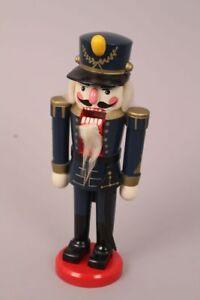 Nussknacker-Husar-Soldat-Erzgebirge-Weihnachten-Dekoration-Holz-blau-Uniform