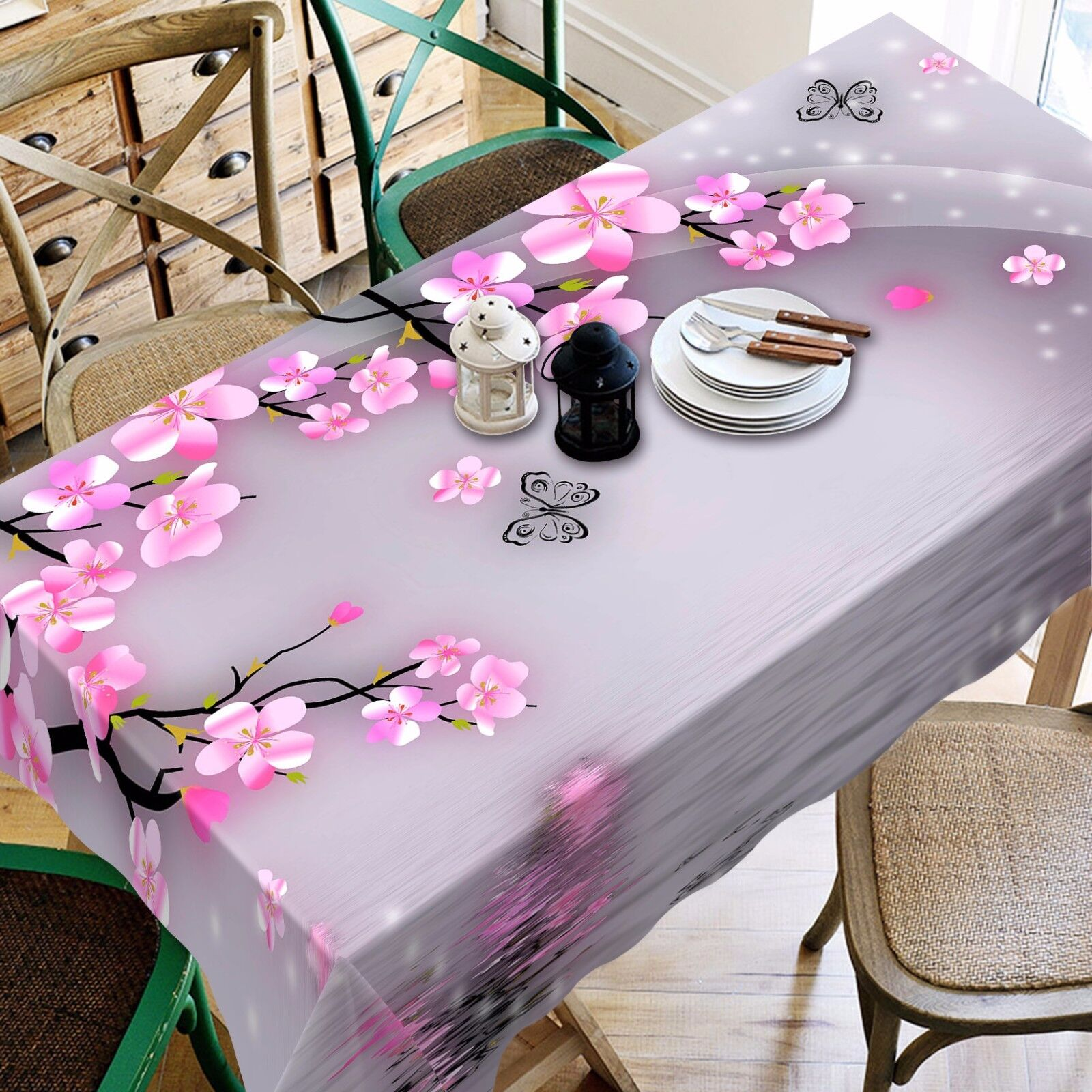 3D Rose Peach 9 Nappe Table Cover Cloth Fête D'Anniversaire événement AJ papier peint UK