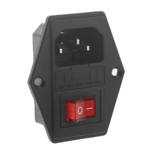 10A-250V-3-Pin-IEC320-C14-AC-Inlet-Male-Plug-Power-Socket-With-Fuse-Switch