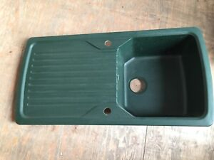 Astracast Excel Green Granite Composite Single 1.0 Bowl Reversible ...