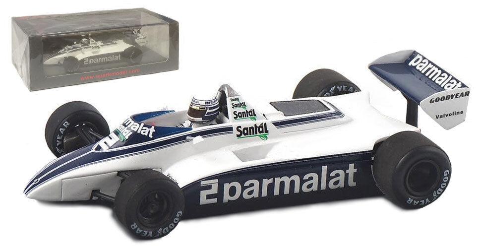 Spark S4789 Brabham BT49D Winner Monaco GP 1982 - Riccardo Patrese 1 43 Scale