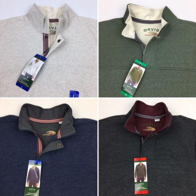 COLOR VARIETY SALE Orvis Men/'s Signature 1//4 zip Pullover Sweater Sweatshirt