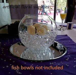 004-12x-12-034-GLASS-mirror-plate-30cm-table-centre-pieces-wedding-fish-bowls