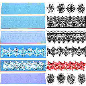 3d Silicone Cake Decorating Lace Icing Impression Mat For Creating
