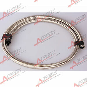 Stainless-Steel-Double-Braided-1500-PSI-6AN-AN6-AN-6-Oil-Fuel-Gas-Line-Hose