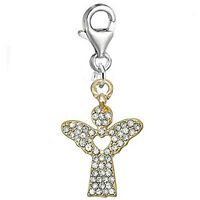 Guardian Angel Charm with Heart in Center for Clip on European Charm Bracelet Je