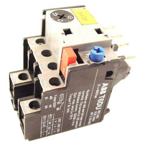 ABB Thermal Overload T6 DU 2.2 to 3.2A T6 DU 4.7 // T6DU4.7 Stock 160-323