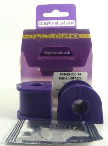 fits Impreza STi inc WRX GD//GG 00-07 POWERFLEX REAR ANTI ROLL BAR BUSHES 14mm