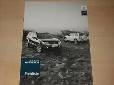 59402) Suzuki Grand Vitara Preise & Extras Prospekt 05/2010